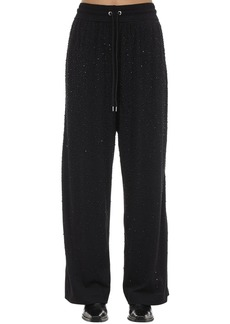 Diesel P-strass Embellished Jersey Pants