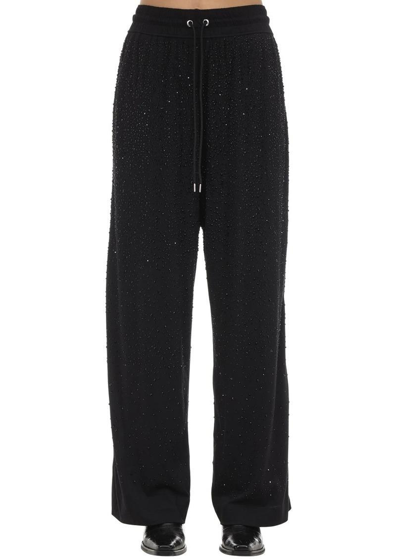 Diesel P-strass Embellished Jersey Pants