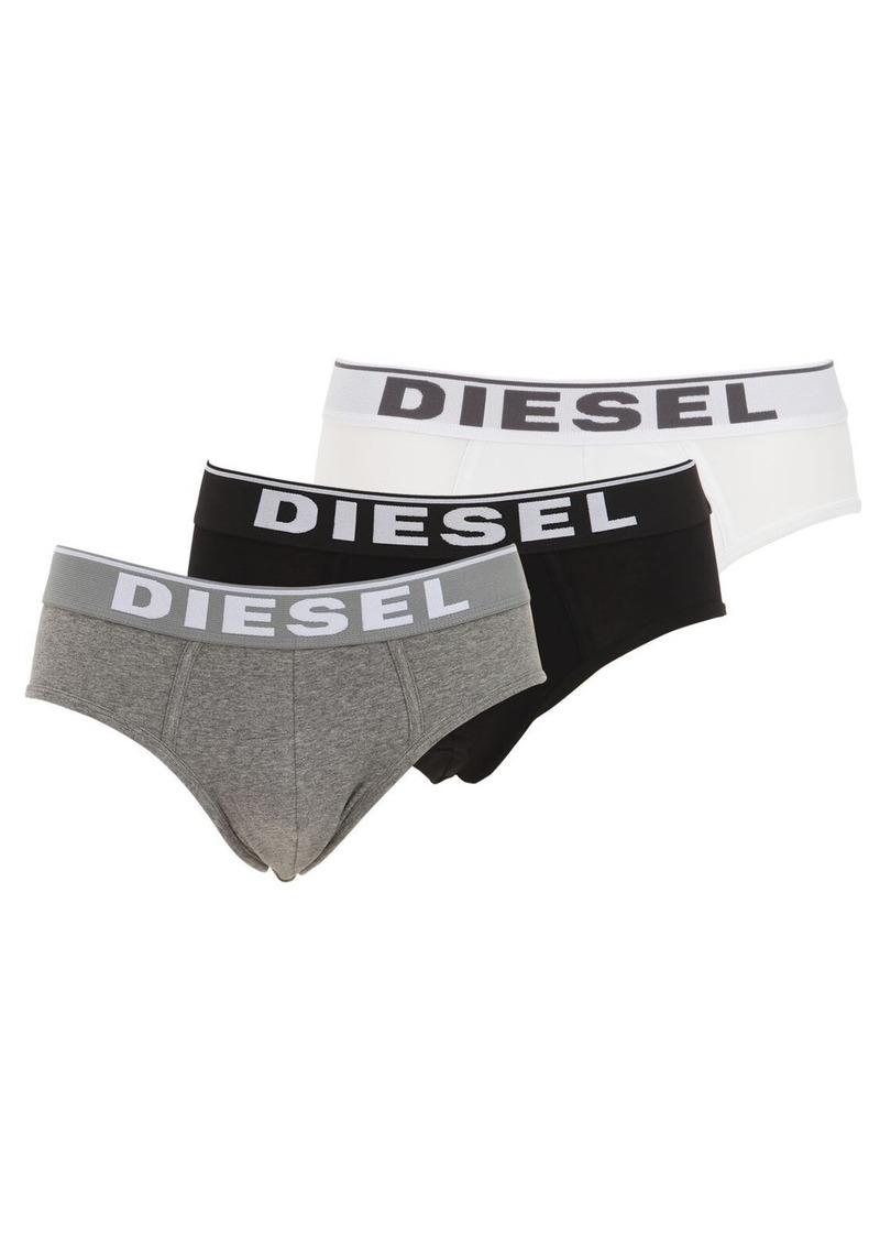 Diesel Pack Of 3 Stretch Cotton Jersey Briefs