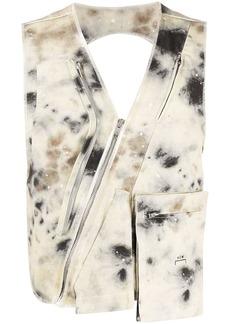 Diesel pain splatter asymmetric vest