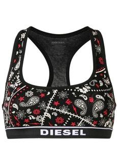 Diesel paisley print bra top