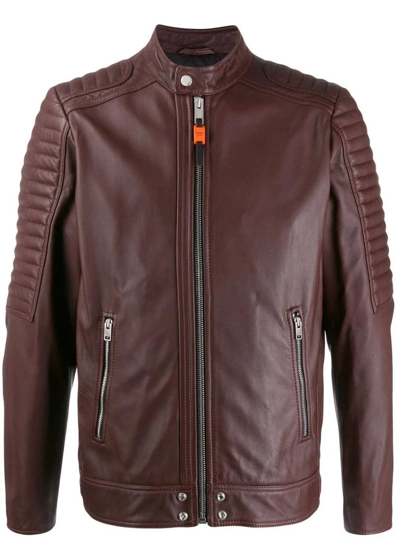 Diesel panelled biker jacket