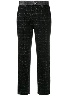 Diesel panelled cropped trousers