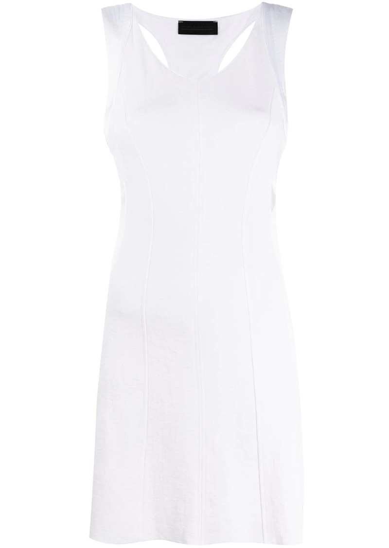Diesel Panelled dress with double back