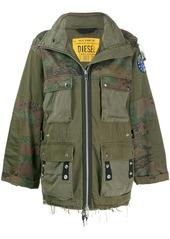 Diesel panelled field jacket