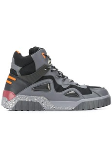 Diesel panelled hiking boots