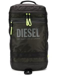 Diesel panelled mesh backpack