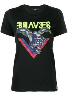 Diesel panther print T-shirt