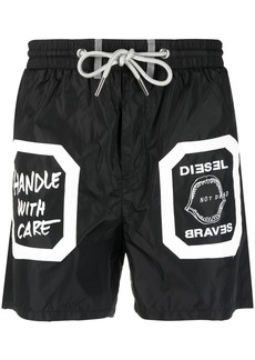 Diesel patch-embellished shell swim shorts