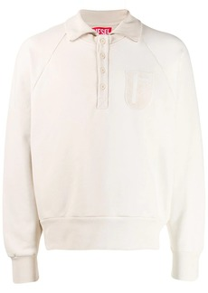 Diesel patch polo sweater