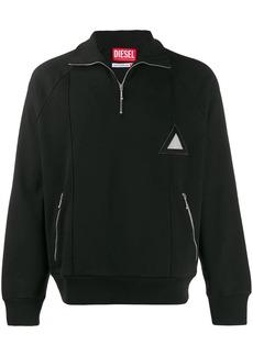 Diesel patch track sweatshirt