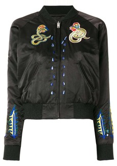 Diesel patched bomber jacket