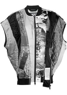 Diesel patchwork bomber jacket