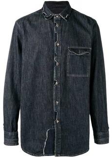Diesel patchwork denim shirt