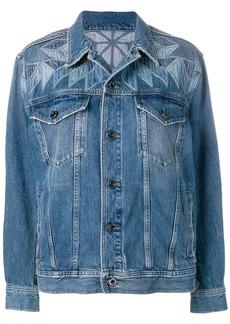 Diesel patchwork embroidered denim jacket