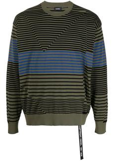 Diesel patchwork striped jumper