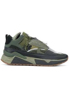 Diesel patchwork style sneakers