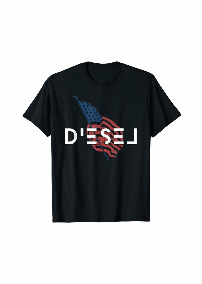 Patriotic Diesel Engine American T-Shirt