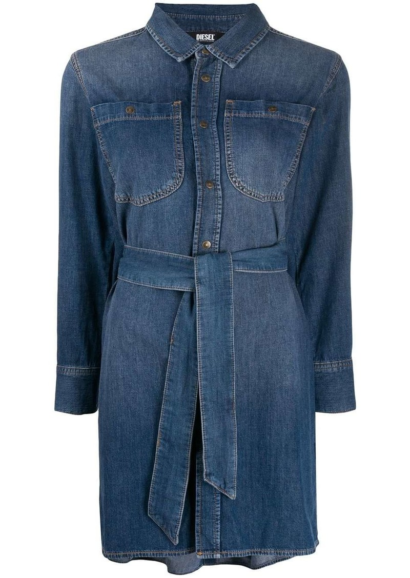 Diesel petal back denim dress
