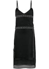 Diesel pierced satin slip dress