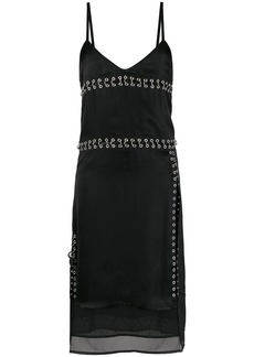 Diesel pierced satin slip dress