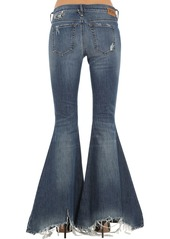 Diesel Piercing Detail Destroyed Flared Jeans