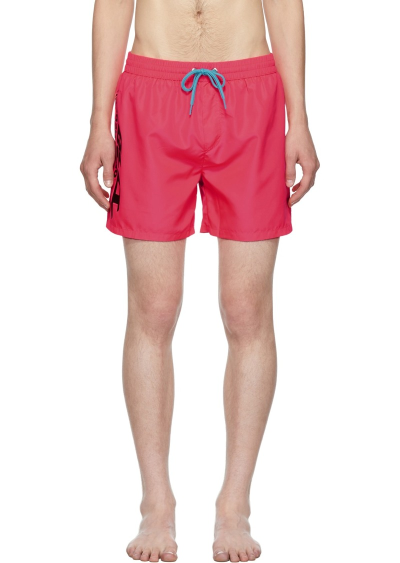 Diesel Pink Wave Swim Shorts