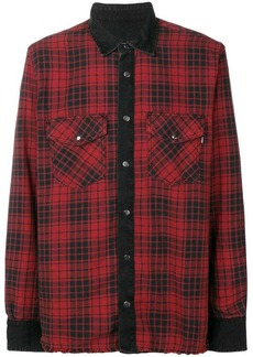 Diesel plaid denim shirt