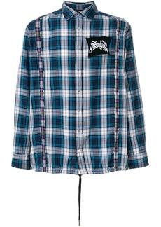 Diesel plaid drawstring hem shirt