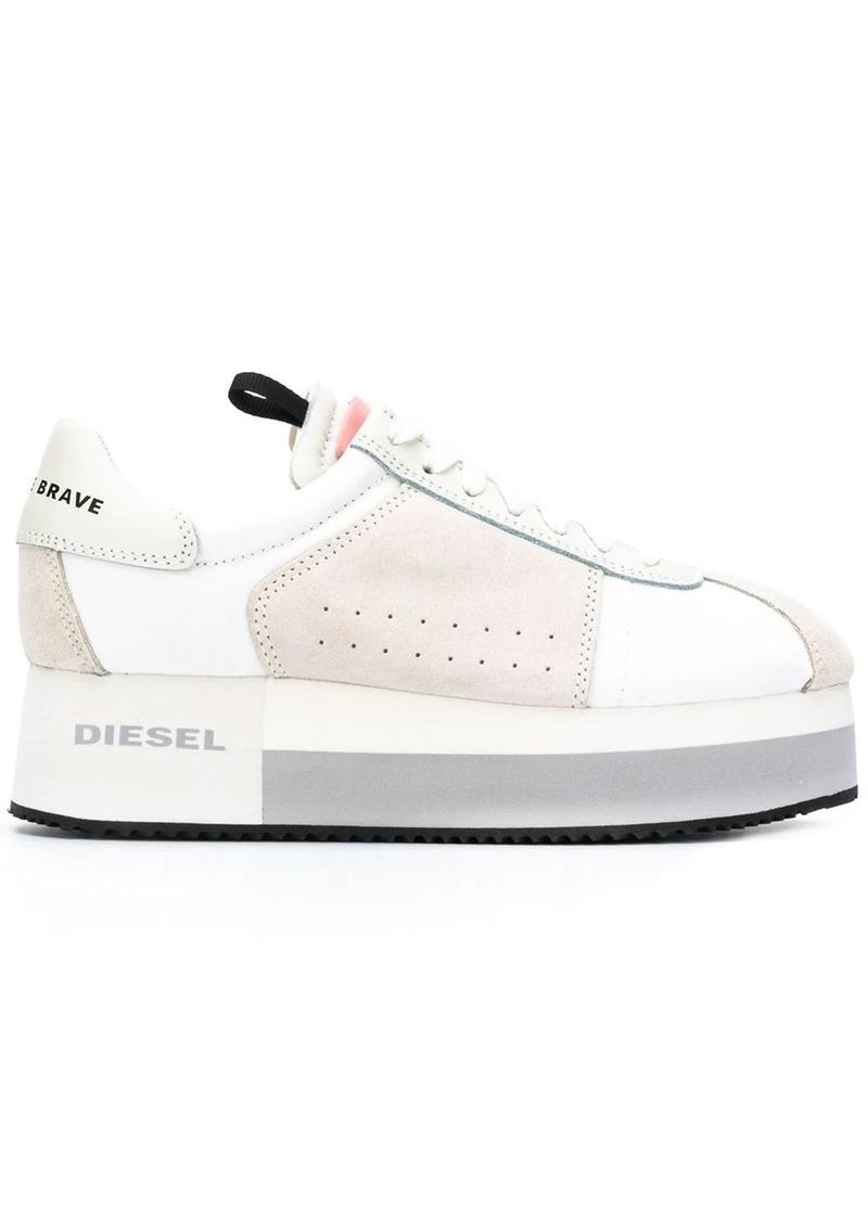 Diesel platform panelled sneakers