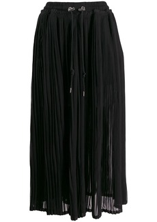 Diesel pleated cropped trousers