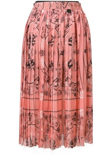 Diesel pleated midi skirt