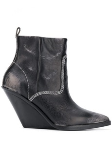 Diesel pointed wedge boots