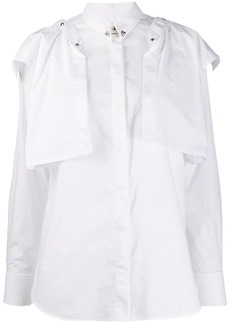 Diesel poplin shirt with detachable ruffles