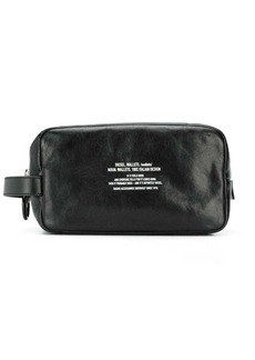 Diesel pouchh distressed-leather wash-bag