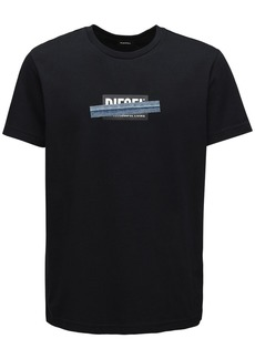 Diesel Print & Patch Cotton Jersey T-shirt