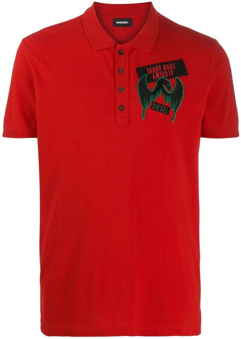 Diesel print polo shirt