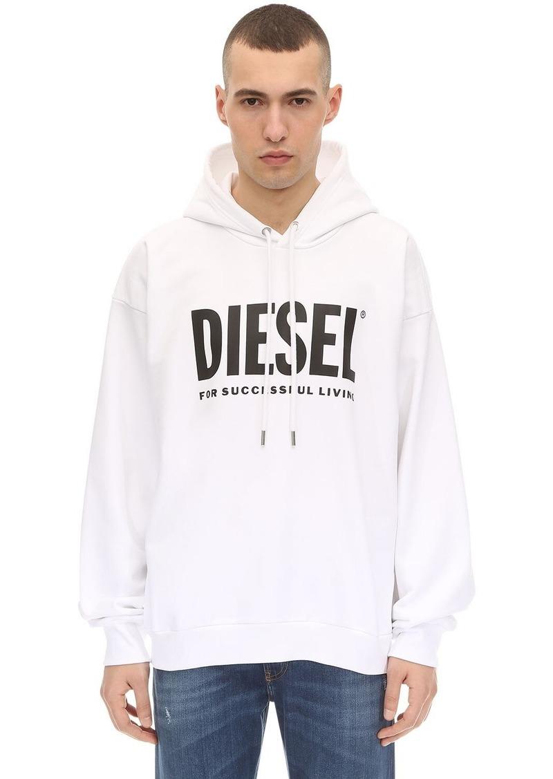 Diesel Printed Cotton Jersey Sweatshirt Hoodie