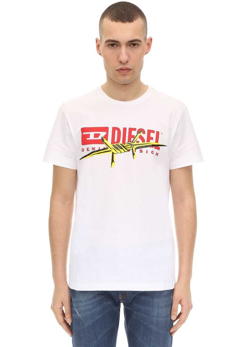 Diesel Printed Cotton Jersey T-shirt