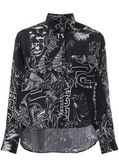 Diesel printed fluid shirt