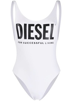Diesel printed logo swimsuit