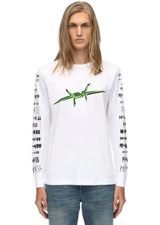 Diesel Printed L/s Cotton Jersey T-shirt