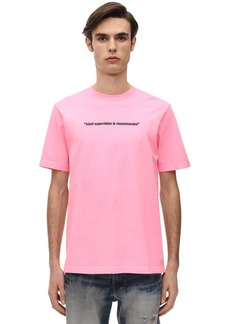 Diesel Printed Neon Cotton Jersey T-shirt