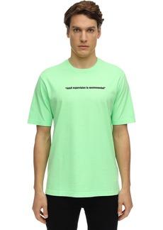 Diesel Printed Neon Cotton Jersey T-shirt