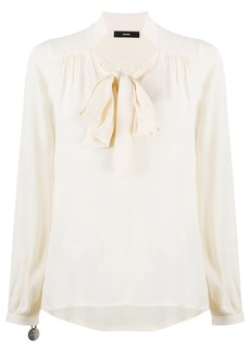 Diesel pussy-bow long sleeve blouse