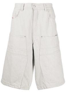 Diesel quilted detail denim shorts