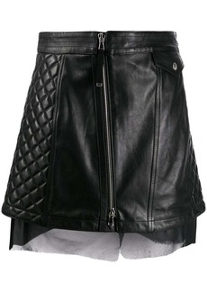 Diesel quilted leather skirt