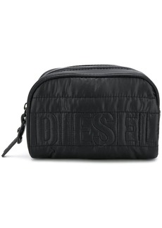 Diesel quilted logo makeup bag