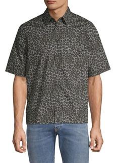 Diesel Raggaess Leopard-Print Hawaiian Shirt