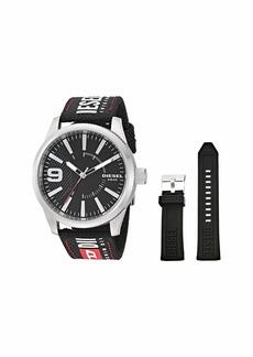 Diesel Rasp NSBB Three-Hand Nylon Watch Set DZ1906